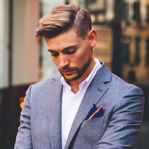 The side part is a trend that works well for all men, but for men with long enough hair to sweep it over, it is the perfect look. #menshair