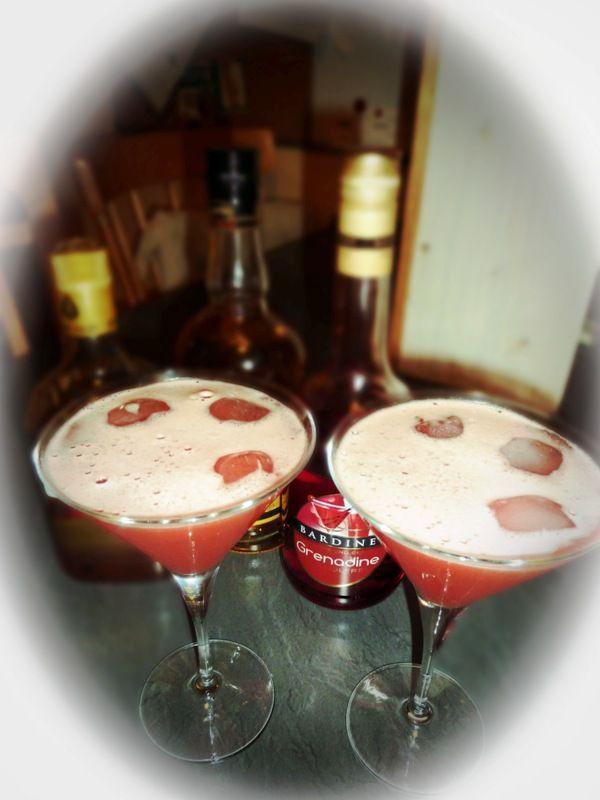 Fire on Ice Cocktail mit Rum