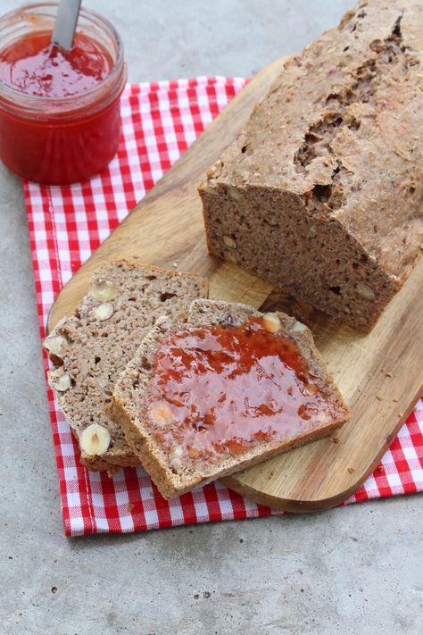 Rezept: Banana Bread mit Haselnüssen {ohne zugesetzten Zucker}   Projekt: Gesund…