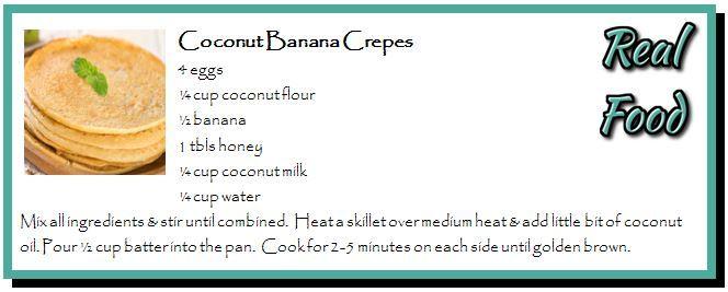 Coconut Banana Crepes