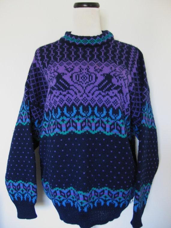 Vintage Reindeer Dale of Norway Wool Ski Sweater by Vntgfindz, $69.00