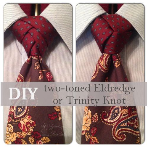 DIY a two-toned Eldredge or Trinity Knot Tie