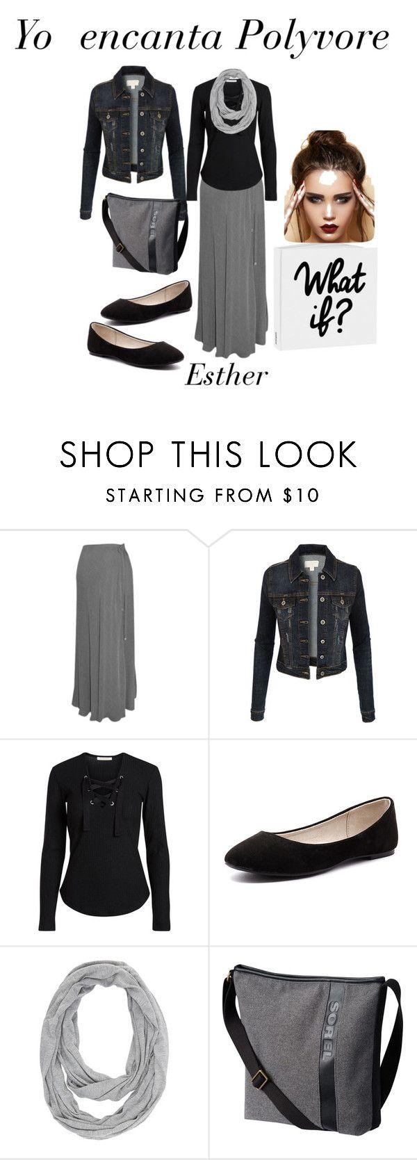 """""""Maxi falda casual"""" by esther-garcia-de-la-cruz on Polyvore featuring moda, Chanel, LE3NO, Verali, Charlotte Russe y SOREL"""