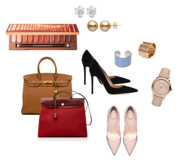 """""""Office 10"""" by marmileva-tanya on Polyvore featuring мода, Hermès, Gianvito Rossi, Urban Decay, Burberry, Maison Margiela и Dsquared2"""