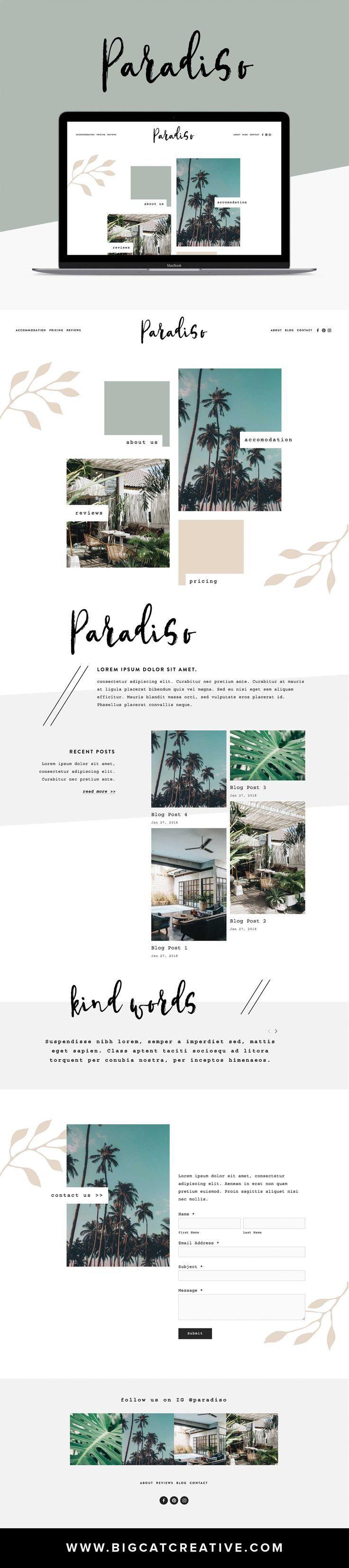 paradiso squarespace template kit digital resources. Black Bedroom Furniture Sets. Home Design Ideas
