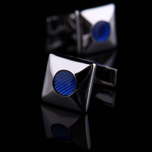Get me these for Christmas. Blue Enamel Inlay Cufflinks for $38.99