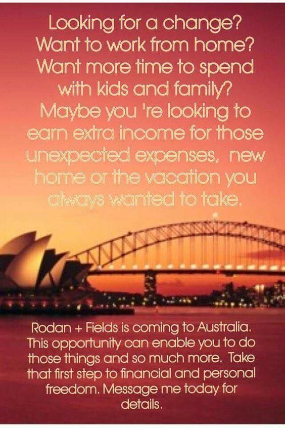 An opportunity for me to share with you my WHY?! Why I have joined Rodan & Fields! Tuesday, 25th April at 7pm - hope you can tune in! Look forward to talking to you all! https://www.rodanandfields.com.au/P10908 #rodanandfields #rodanandfieldsaustralia #mywhy #sharingmystory #facebooklive #opportunityawaits