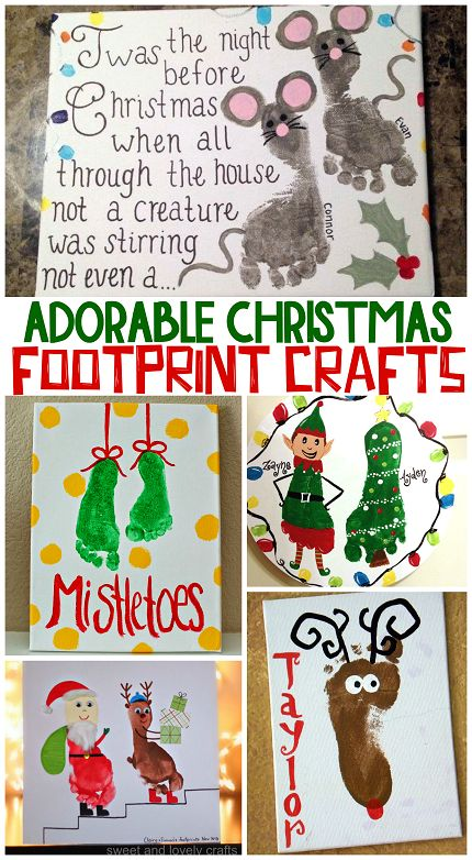 Who doesn't love covering their kids foot with paint while they wiggle and squirm?! hehe. Although they may not turn out perfect every time, these Christmas footprint crafts make great keepsakes for parents and grandparents. For example, check out the penguin art project where he has 6 toes (gotta love it!) Just click on the links …
