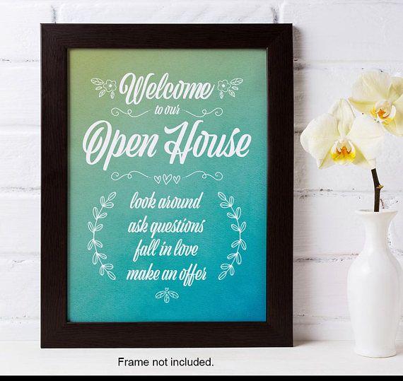 Open House Sign Open House Welcome Welcome Sign Realtor