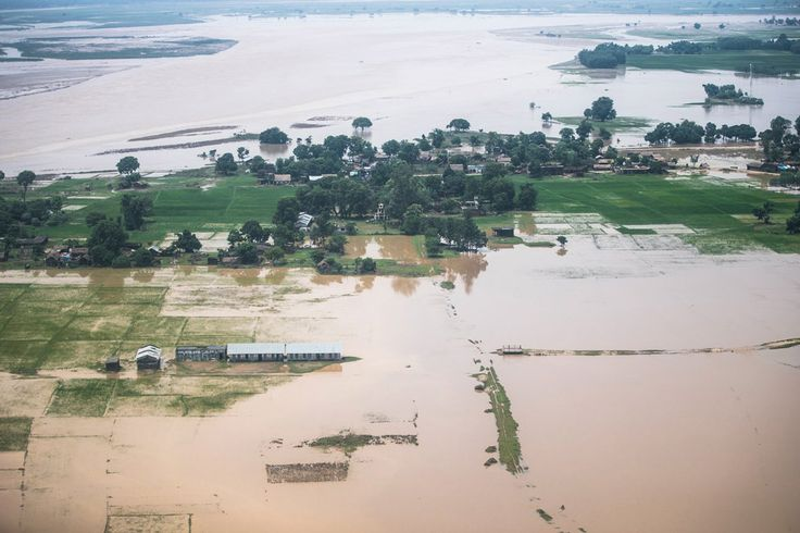 Guterres says UN ready to support relief efforts in South Asia countries hit by floods, landslidesAerial view of roads and agricultural land inundated by floods in Banke district, south-western Nepal. Photo: UNICEF Nepal/2017/SJThapa