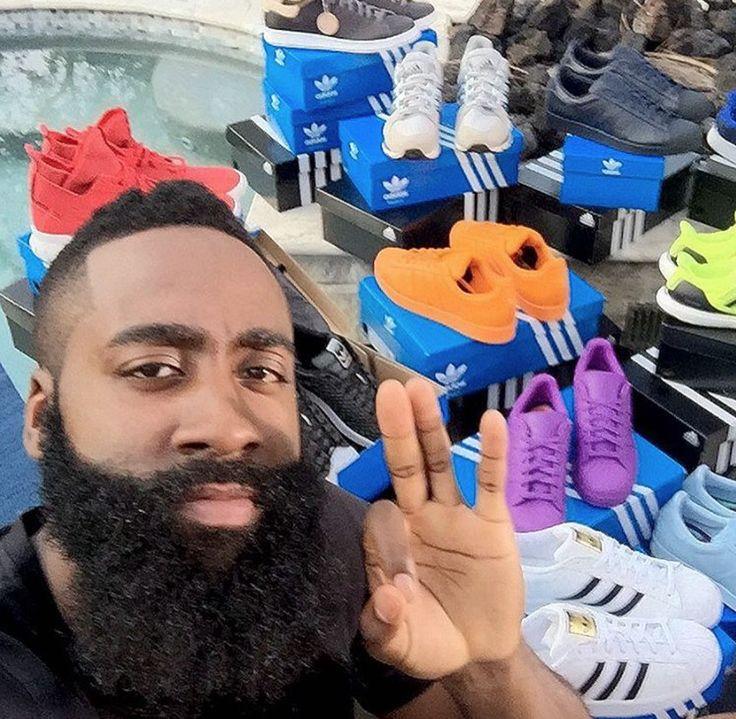 Le basketteur et petit ami de Khloé Kardashian, #JamesHarden collaborent avec la marque #Adidas pour la création d'une collection de chaussures.