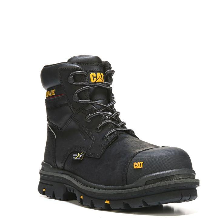 "Caterpillar Men's Rasp 6"" Waterproof Metatarsal Guard Composite Toe Work Boots (Black Leather) - 7.5 M"