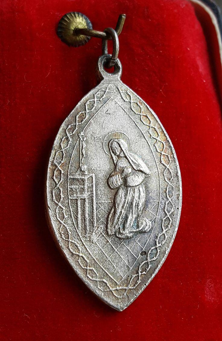 Antique Spanish Brotherhood of Saint Rita Medal Catholic Jewelry Saint Rita Catholic Gift Religious Gift by SacredBarcelona on Etsy