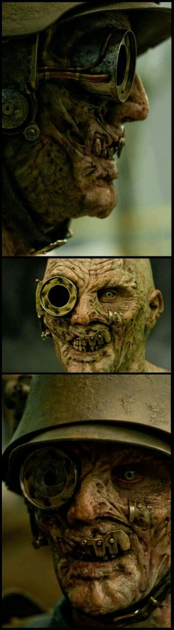 twenty1-grams:  Demon German Gunner-Sucker Punch Steampunkish Prosthetic makeup SFX prosthetics and accessories