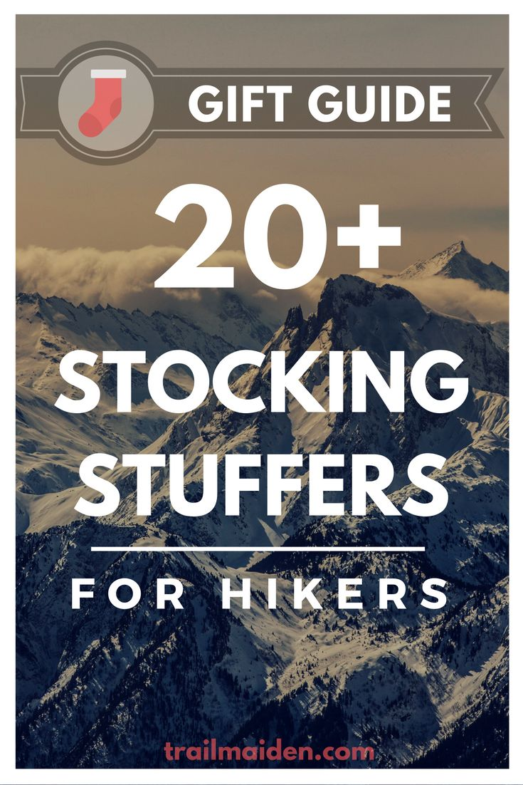 Ultimate outdoor gift guide with over 20 awesome stocking stuffers for hikers and backpackers! Use this simple list to and become the best Santa this year!