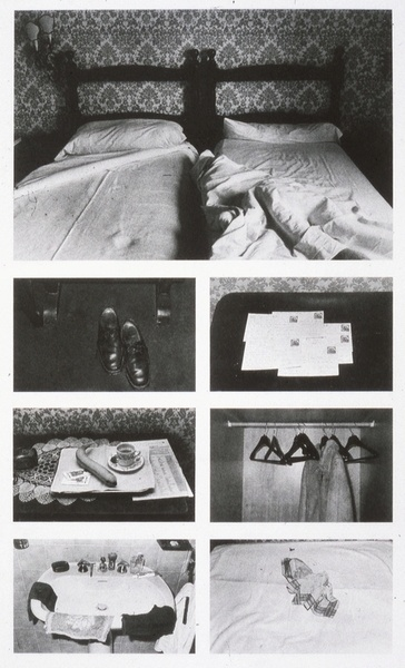 Sophie Calle 1981, The Hotel evidence that people have been there