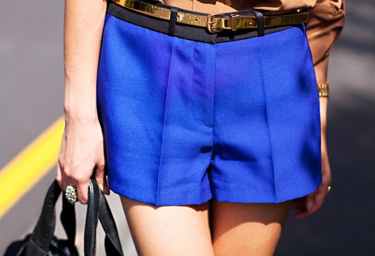 cobalt shorts.