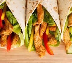 Znalezione obrazy dla zapytania tortille z kurczakiem