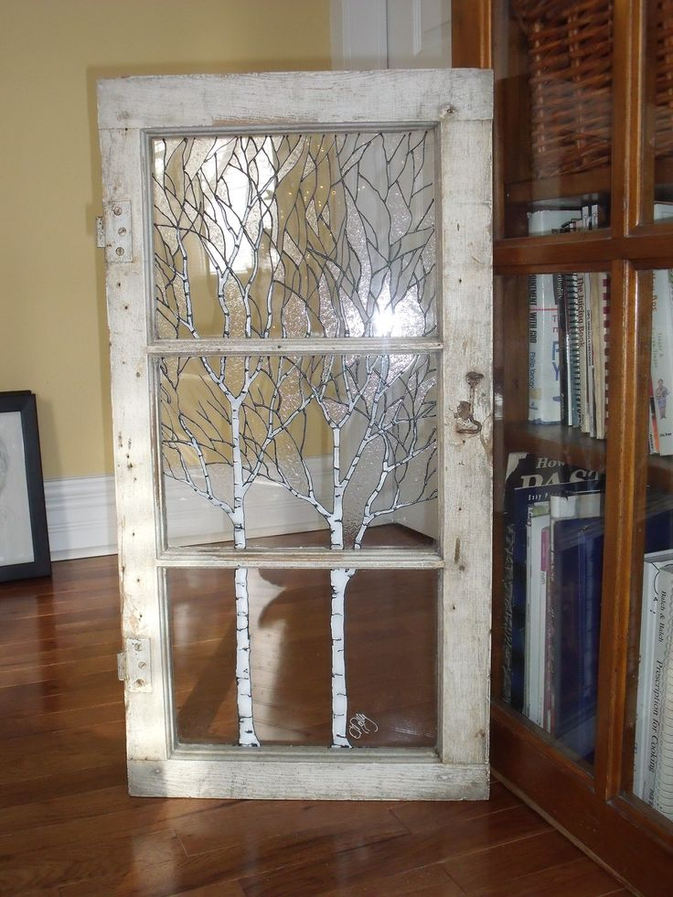 Birch tree window. this is an old window from my parents house that we refurbished for them!