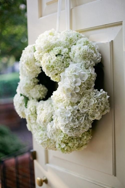 Welcoming Wreaths Diy Home Decor Wreath Ideas White Hydrangea Wreath