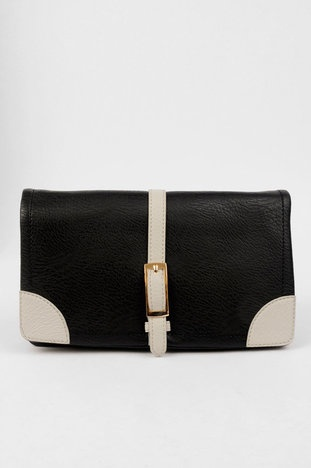 Strapping Clutch in Black $60 at www.tobi.com
