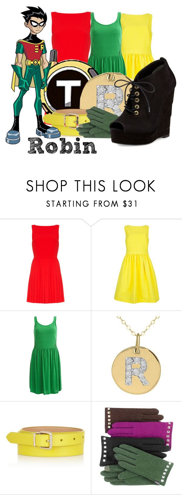 """Robin from Teen Titans"" by god-girl ❤ liked on Polyvore featuring Alice + Olivia, Ted Baker, VILA, Lord & Taylor, Mulberry, Echo and Diane Von Furstenberg"