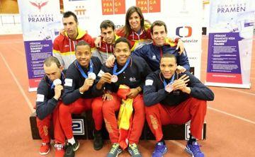 El equipo español en Praga. Fuente: FEDDI