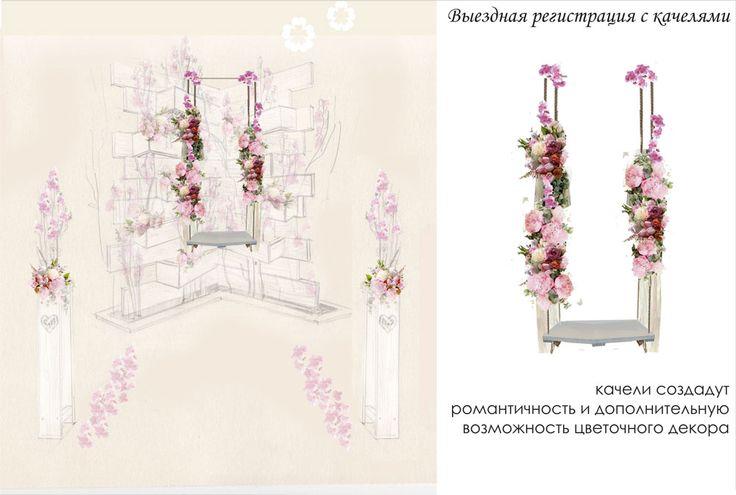 Эскиз свадьбы мечты: Яблони в цвету от Студии декора Леринель (г. Барнаул) | Prosvadby.com