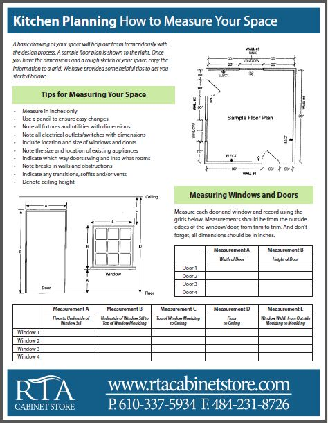 Free Kitchen Planning Template To Help You Accurately Measure For A New Kitchen Http