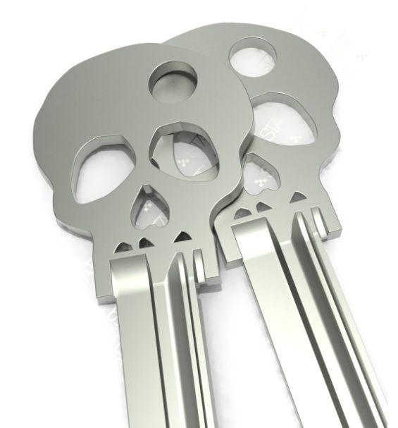 Skull keys - Skullspiration.com - skull designs, art, fashion and more