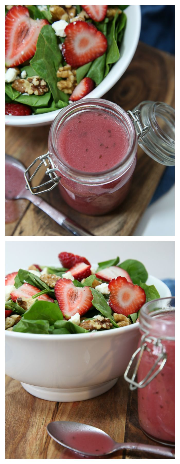 Strawberry Balsamic Vinaigrette Salad Dressing.