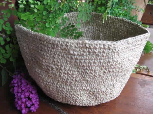 Hand made from 100% hemp twine, these nest bowls carry a fascination and intrigue with their natural beauty. Soft and pliable, the bowls add an accent of beauty to any room . Use on the coffee table , for entertaining, in the bedroom or office to store small items.    the diameter of the bowl is approx. 21cms  Height is approx. 10cms    Hemp is the strongest and most durable natural fibre known to mankind , naturally mildew resistant and antibacterial.    Made by Bagdha Enterprise in…