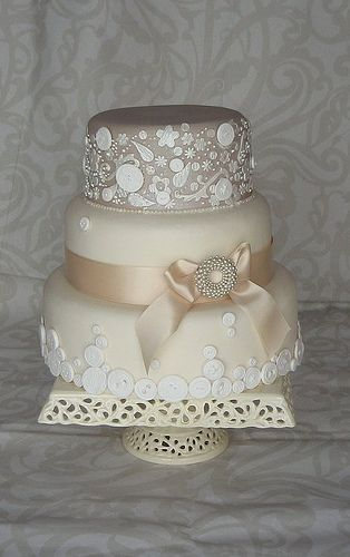 sweet: Lace Cakes, Cakes Ideas, Vintage Weddings, Vintage Wedding Cakes, Vintage Cakes, Awesome Cakes, Buttons, Cakes Design, Vintage Style