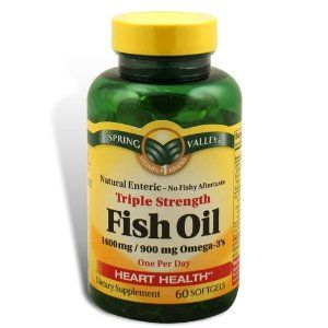 Spring valley fish oil 1400 mg triple strength natural for How much fish oil a day