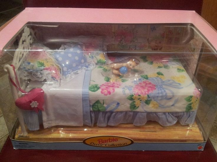 BARBIE DOLL DECOR COLLECTION BED FURNITURE 1998 NEW W/Box