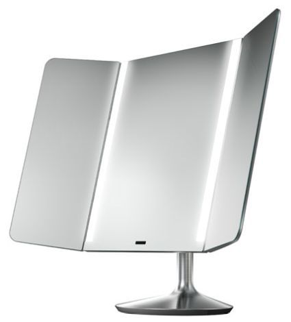 Elegant The simplehuman Wide View Sensor Mirror is not only gorgeous you can customize the lighting