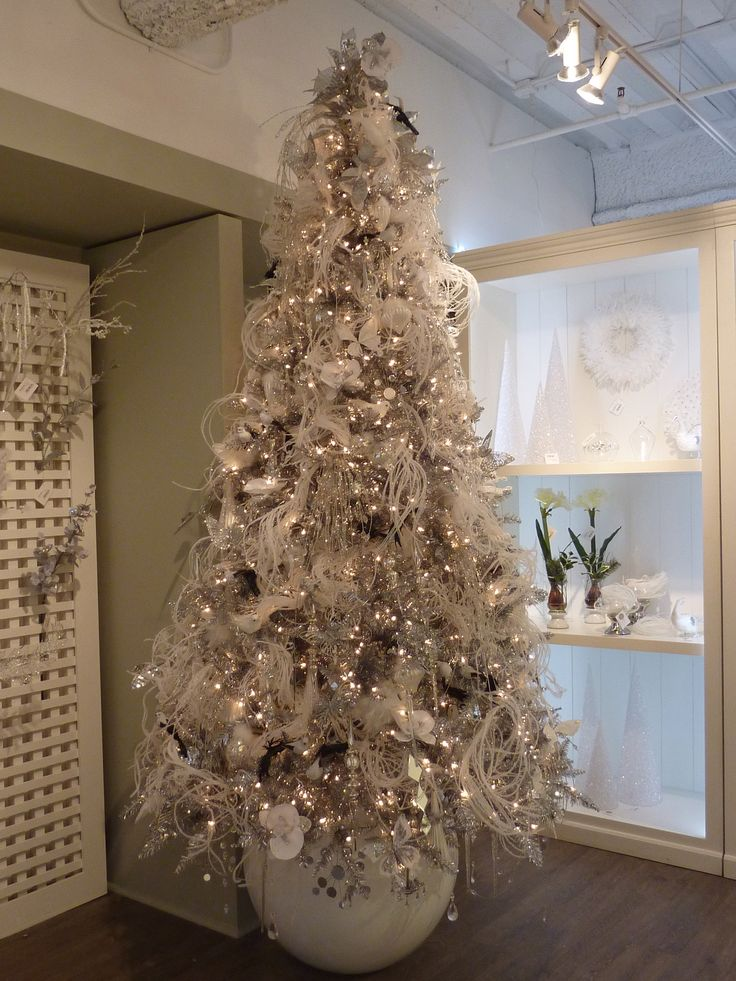 silver christmas tree 1000 ideas about white decorations on 11586