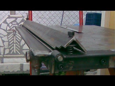 Sheet Metal Bender Brake The Make & First Use Stainless Steel BBQ - YouTube