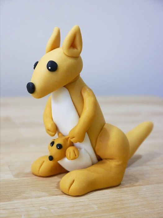 How To Make A Gum Paste Kangaroo Polymers Mom And Summer