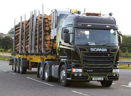 Scania G410 streamline YE55 LOG   near Lockerbie, Scotland, …   Flickr