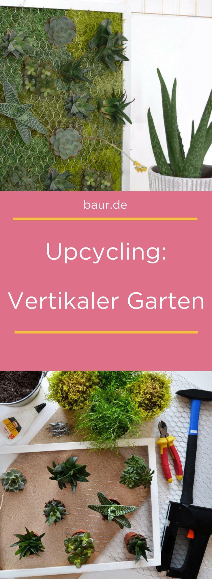 Vertikaler Garten selbst gemacht