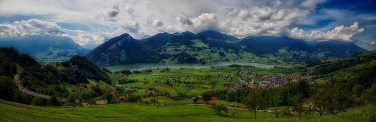 Kanton Schwyz: Panoramablick.