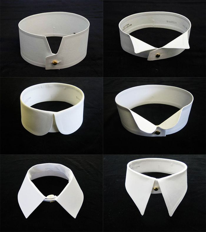 Selection of vintage-style detachable mens collars from darcyclothing.com