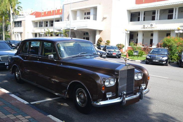 A fancy car, maybe it is the Brunei Sultan's car?