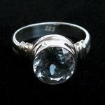 A handmade LotusMoon sky blue topaz ring $136