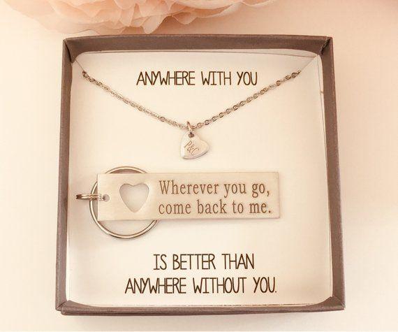 Freund Geschenk, ich liebe dich, für ihn, Geschenk für ihn, Herz Halskette, Mann Geschenk, Paare Schmuck, Silber Schlüsselanhänger, Paare Geschenke, Rose 004