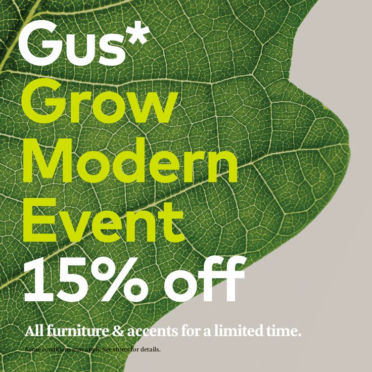 Help plant a tree! Until January 28, you save 15% on Gus* and for each product sold, Gus* plants a tree in support of healthy forests. Visit Modern Living London and check out our selection of Gus* products today.