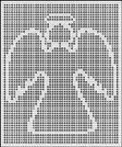 Crochet Outline Stitch : ANGEL OUTLINE CROCHET AFGHAN PATTERN Cross stitch Pinterest