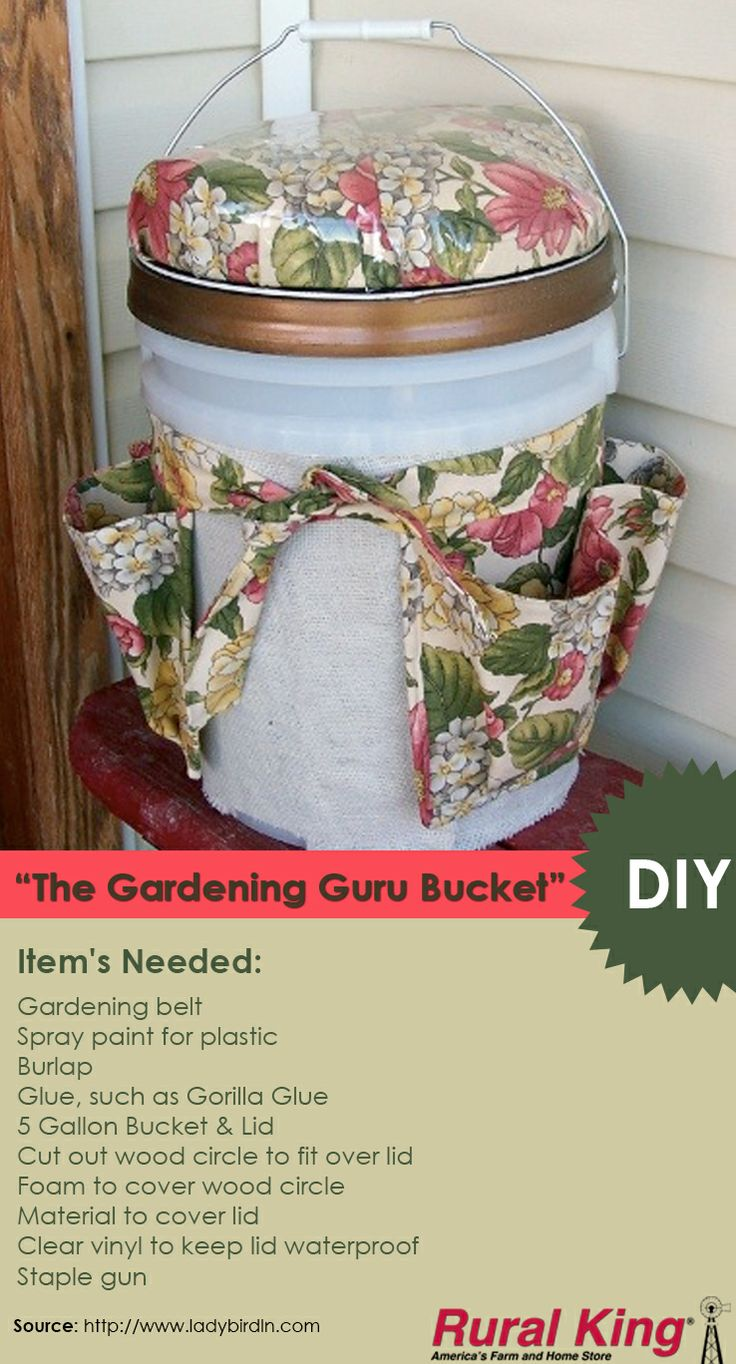 ... gardening belt! Great gift idea! #ruralking #gardening #5gallonbucket