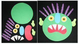 Monster activities: FREE printables: Pattern pieces and activities for Go Away Big Green Monster.